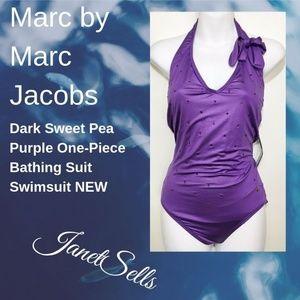 Marc by Marc Jacobs Sweet Pea Purple Bathing Suit